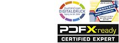 Logos von QSD, Innovativ Stifterverband und PDFX